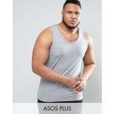 ASOS PLUS - Grau meliertes Muskelshirt