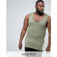 ASOS PLUS - Grünes Muskelshirt