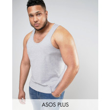 ASOS PLUS - Kalkgraues Trägershirt