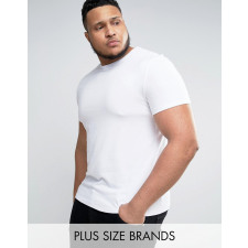 ASOS PLUS - Weißes Muskel-T-Shirt