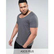 ASOS PLUS - Anthrazitfarbenes T-Shirt