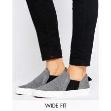 New Look Wide Fit - Jersey-Sneaker zum Hineinschlüpfen