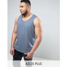 ASOS PLUS - Blau meliertes Skater-Trägershirt