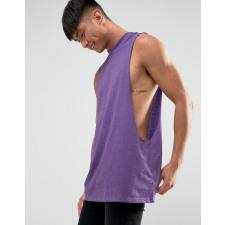 ASOS - Ärmelloses, lang geschnittenes T-Shirt