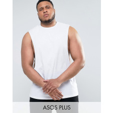 ASOS PLUS - Langes, ärmelloses T-Shirt