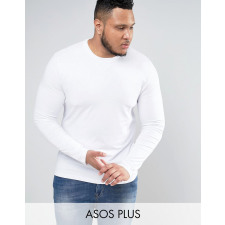 ASOS PLUS - Langärmliges Muscle-T-Shirt