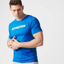 T-Shirt mit Logo - XL - Blau