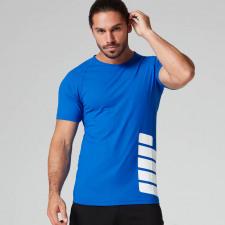 Bold Tech Logo T-Shirt - M - Blau