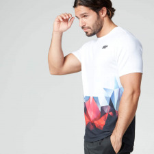 Digital Geo Print T-Shirt - XXL - Blau