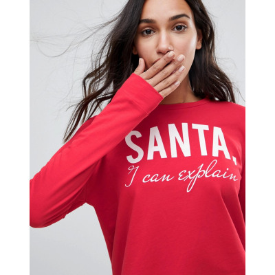 Only - Santa I Can Explain - Weihnachts-Sweatshirt