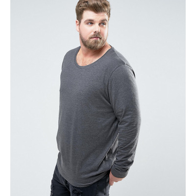 ASOS PLUS - Lang geschnittenes, langärmliges Shirt