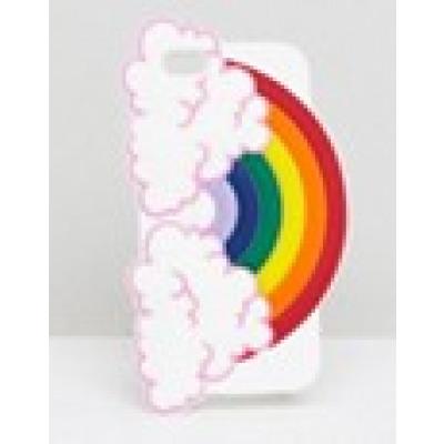 Monki - iPhone-Hülle mit Regenbogen - Weiß