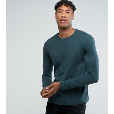 ASOS Tall - Grünes, langärmliges Shirt