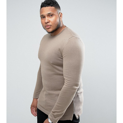 ASOS PLUS - Lang geschnittener Pullover