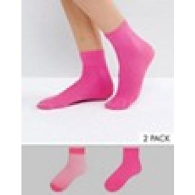 ASOS - Socken mit transparentem Einsatz und Fischnetz in Magenta