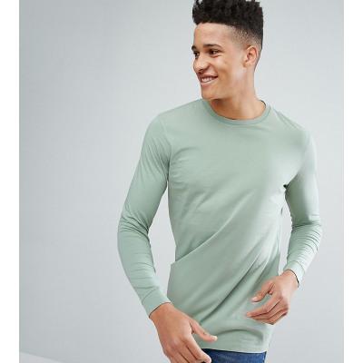 ASOS TALL - Lang geschnittenes, langärmliges Shirt