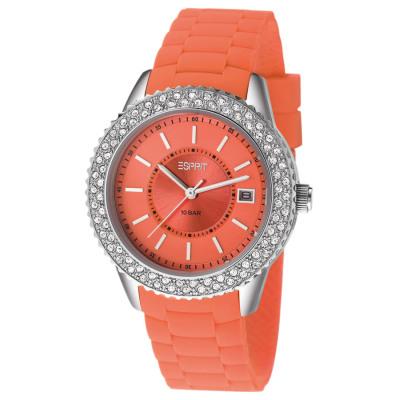 Esprit MARIN GLINTS CORAL UHR Quarzuhr Damen orange