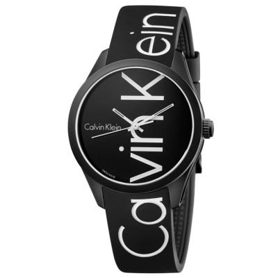 Calvin Klein COLOR ARMBANDUHR Quarzuhr Damen schwarz