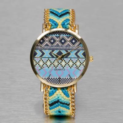 Kaiser Jewelry TEXTIL WATCH Automatikuhr Damen türkis