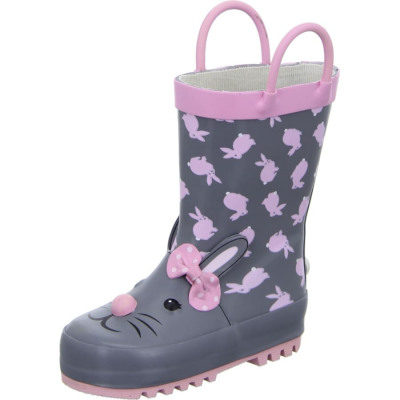 Sneakers GUMMISTIEFEL Kinder grau-pink
