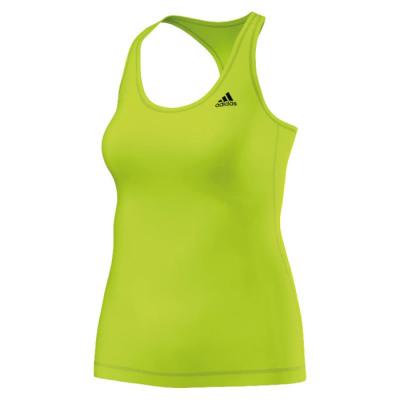 adidas TECHFIT SOLID TANK Kompressionsshirt Damen gelb