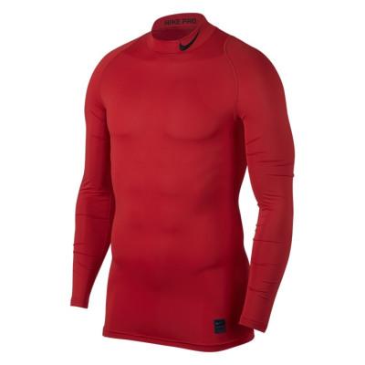 Nike PRO COMPRESSION MOCK LS TOP Kompressionsshirt Herren rot