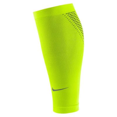 Nike ELITE COMPRESSION RUNNING SLEEVE Kompressionsbeinlinge gelb