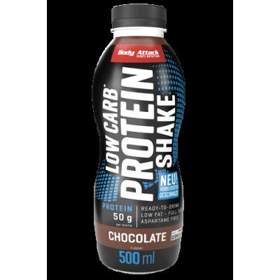 Body Attack Low Carb Protein Shake - 500 ml Restposten