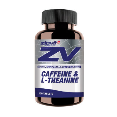 ZipVit Sport Koffein (200 mg) + L-Theanin (50 mg) (100 Tabletten) - Vitamine und Nahrungsergänzung