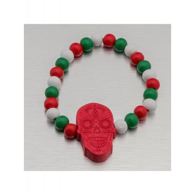 Wood Fellas Männer,Frauen Armband Mexican Skull
