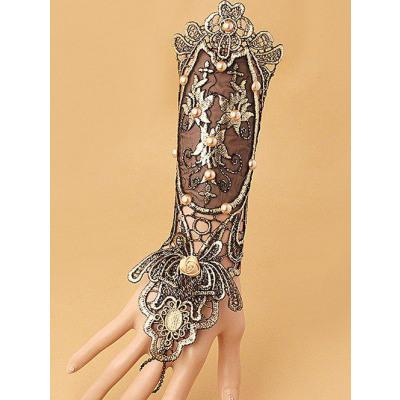 Faux-Perlen-Spitze-Up Handschuh-Armband