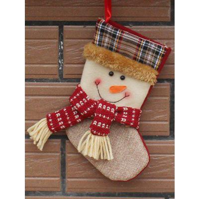 Weihnachtsbaum hngende Geschenk Socken fr Kinder mit Schneemann Muster