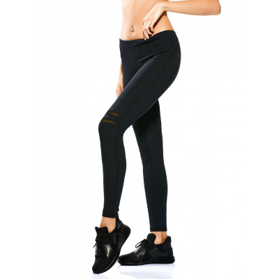 Mesh Panel dehnbare Yoga Leggings