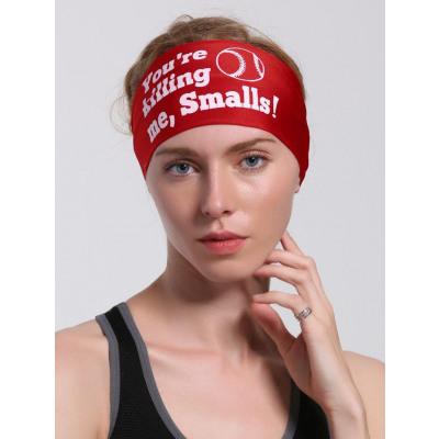 Sport Radfahren Stirnband mit Buchstabendruck
