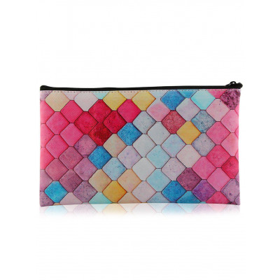 Zipper Honeycomb Bunte Make-up Werkzeugtasche