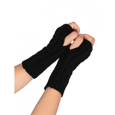 Winter hkeln fingerlose Handschuhe