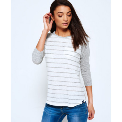 Superdry Stripe Baseball-Shirt