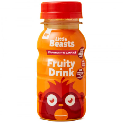 Little Beasts fruchtiger Drink - Probe - 150ml - Flasche - Orange, Mango & Pineapple