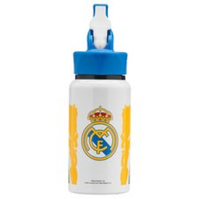 Real Madrid Trinkflasche Aluminium - Weiß/Blau