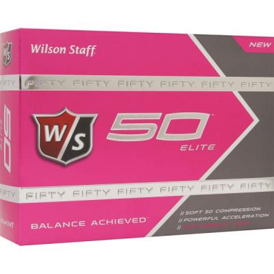 Wilson Fifty Elite Golfbälle, pink