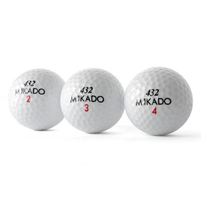 Mikado 432 Golfbälle, weiß