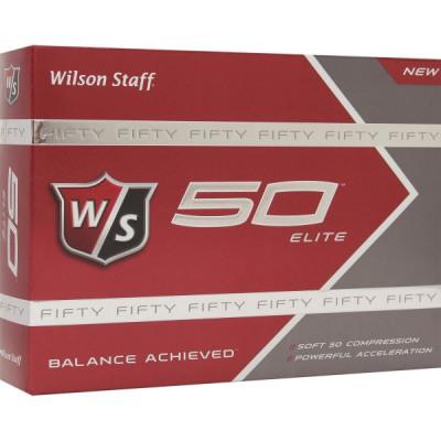 Wilson Fifty Elite Golfbälle, weiß