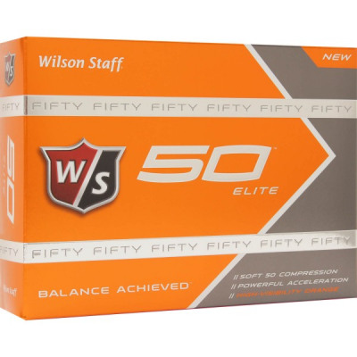 Wilson Staff Fifty Elite Golfbälle, orange
