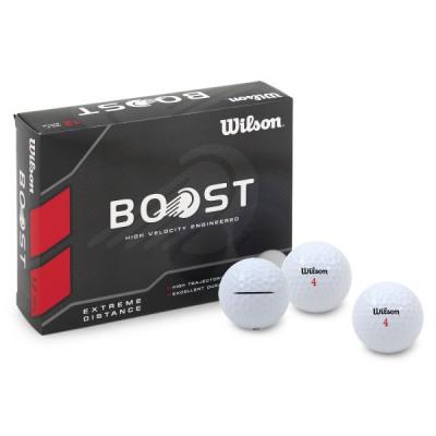 Wilson Boost Extreme Distance Golfbälle, weiß