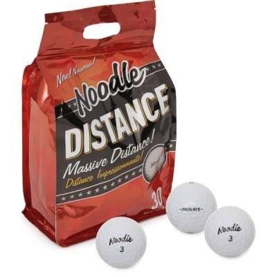 Maxfli Noodle Distance Golfbälle, 30er-Pack, weiß