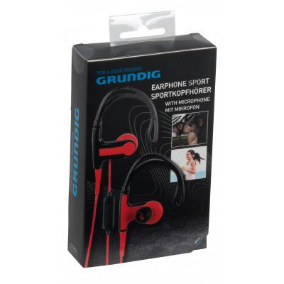 Grundig Kopfhörer Sport mit Mikrofon - Black & Rot