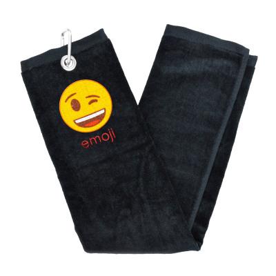Emoji Golf Handtuch - Wink
