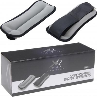XQ Max Handgelenk / Ankle Gewichte - Schwarz - 2 x 0,5 kg