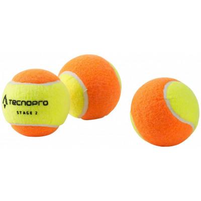 TecnoPro Stage 2 Tennisball (Farbe: 900 gelb/orange)