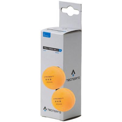 TecnoPro Tischtennisball 3 Stern (Farbe: 800 orange)